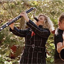 Trance Mission Duo with Stephen Kent, didjeridu, and Beth Custer, clarinet
