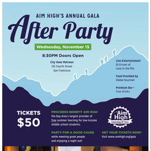 Aim High Gala: After Party - Open Bar