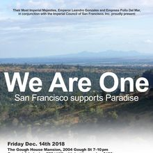 """We Are One """" San Francisco Supports Paradise"""""""