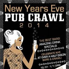 San Francisco 2014 New Year's Eve Pubcrawl