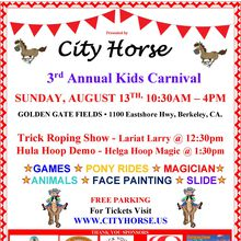 "3rd Annual City Horse ""Kids Carnival"""