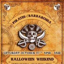 Pirates of Barbarossa Halloween Party - 2 Stories - Live DJs - Themed Cocktails - $10k Spooky Decor