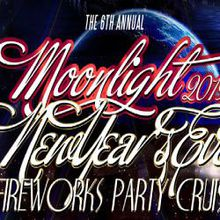 The 6th Annual Moonlight New Year's Eve Fireworks Party Cruise Aboard the San Francisco Spirit Yacht
