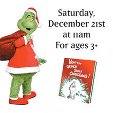Oh My Gosh! Story Time Presents THE GRINCH Costume Tour Story Time at Books Inc. in The Marina