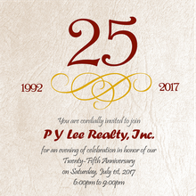 P Y Lee Realty, Inc. - 25th Anniversary