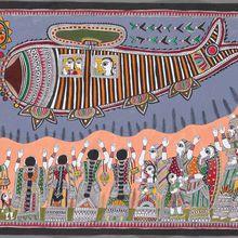 Artist Demonstration: Shalinee Kumari, Mithila Painting
