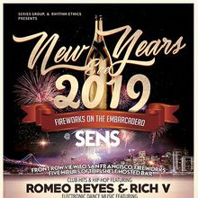 NYE 2019 FIREWORKS on the EMBARCADERO - 5 Hours of Open Bar