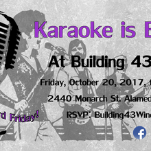 Karaoke at Building 43 Winery – October 20, 2017
