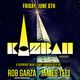 Kazbah Benefit w/ Rob Garza (Thievery Corporation) + James Teej (My Favorite Robot)