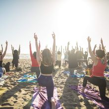 Saturday Groove: Silent Disco Beach Yoga with Peter Walters!