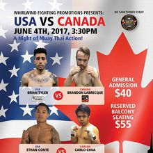 Whirlwind Fighting Promotions Presents: USA vs Canada