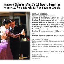 Gabriel Missé's 15 hours Seminars@Studio Gracia