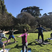 February Yoga in the Garden