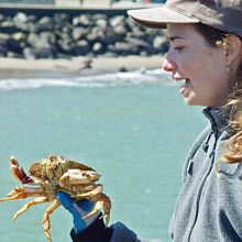 Pier Crabbing Demonstration