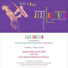Jazz Brunch in Tribute to Nat King Cole, Ella Fitzgerald & Cole Porter