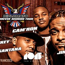 DIPSET (Cam'Ron, Jim Jones, Juelz Santana & Freeky Zekey) at 1015 FOLSOM