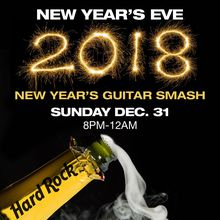 Hard Rock Cafe San Francisco New Year's Eve Guitar Smash 2018