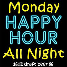 Happy Hour Specials All Night at Raven