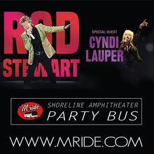 Rod Stewart & Cyndi Lauper Shoreline Amphitheatre Shuttle Bus