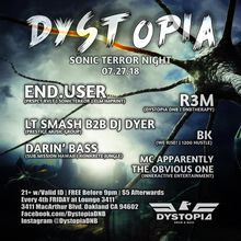 """Dystopia Presents """"Sonic Terror & Prestige Music Group"""" Featuring End.User"""
