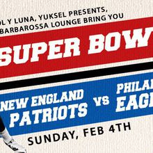 Free Super Bowl 52 Live Viewing Party at Barbarossa - Big Screens, Food & Drinks