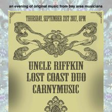 equinox party! with uncle riffkin, lost coast duo, carnymusic