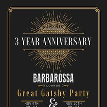 Great Gatsby 3 Year Anniversary Party
