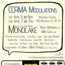 CCRMA Modulations: Monolake