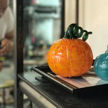 Pumpkin glass blowing open studio