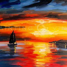 Painting and Vino: 'Marine Sunset'