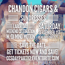 Chandon Cigars & Sundresses Real Day Party PT. 2 Labor Day Weekend