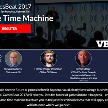 GamesBeat 2017 - The Time Machine