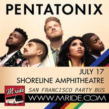 Shoreline Amphitheatre Shuttle Bus - Pentatonix