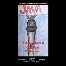 @hobo_comedy presents the Java on Ocean Standup Comedy Showcase