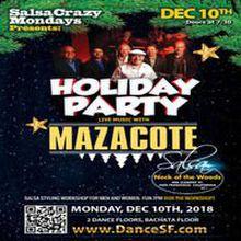 Live Salsa Orq. Mazacote - Salsa Mondays Holiday Salsa Bachata Dance Party