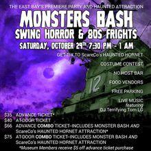 Monster Bash: Swing Horror & 80s Fright onboard USS Hornet + Haunted House