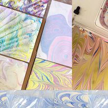 Intro to Marbling Paper Workshop-10/21 by Shaine Drake