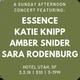 Amber Snider / Essence / Katie Knipp / Sara Rodenburg