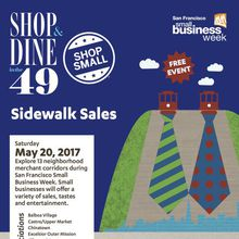 San Francisco Small Business Week Sidewalk Sales