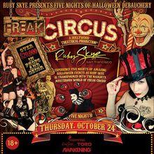 Five Nights Of Halloween Debauchery: FREAK CIRCUS WITH PENDULUM