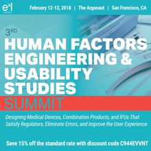 3rd Human Factors Engineering and Usability Studies Summit