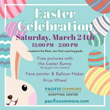 PACIFIC COMMONS INVITES AREA FAMILIES TO A MEET-THE-EASTER-BUNNY FREE PHOTO OPPORTUNITY