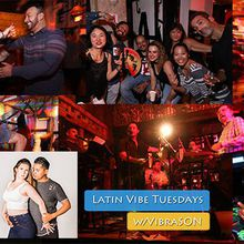 Latin Vibe Tuesdays in SF w/VibraSON Live, dance lesson, DJs at Bar Fluxus