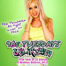 90s Tuesdays | Throwbacks All Night | Free Champagne