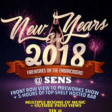 NYE 2018 on the EMBARCADERO - Fireworks Viewing + Open Bar Tix