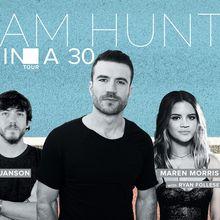 Sam Hunt 15 In A 30 Tour