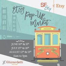 SF Etsy Summer Pop Up Ghirardelli Sqare