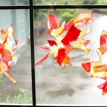 Demo: Fall Leaf Suncatchers