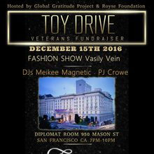 Toy Drive, Vet Fundraiser - Fairmont Hotel