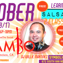 LEARN SALSA, SALSA LESSONS, SALSA/MAMBO DANCE PARTY, FREE SALSA MAMBO CLASSES WITH ENTRY @ 5PM ( Every 2nd Sunday-San Francisco